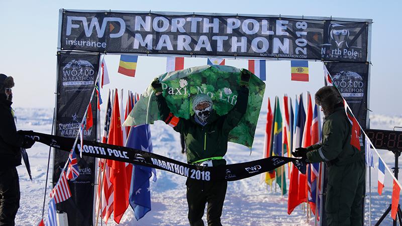 北極マラソンの様子